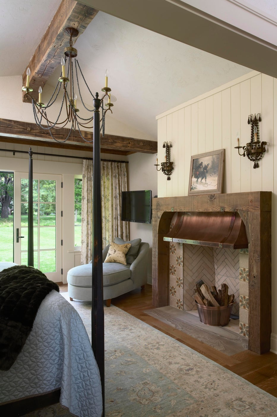Fireplace and Seating Area in Master Bedroom - Minnesota