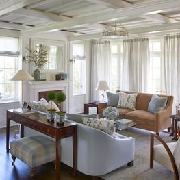 Contemporary Shingle Style Overlooking a Tidal River - Living Room