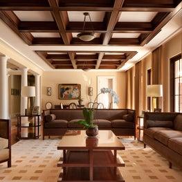 Transitional Living Space in a Classical Italian Palm Beach Villa.