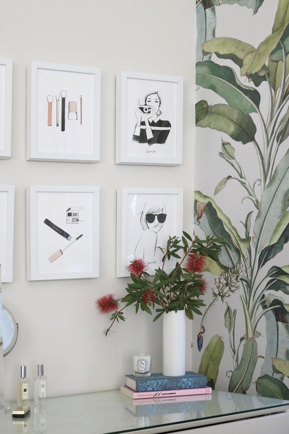 Los Angeles Tropical Bedroom Vanity