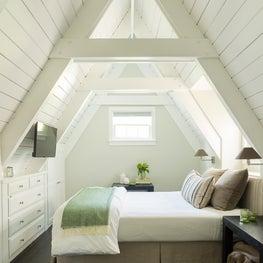 A-Frame Bedroom in Guest Cottage