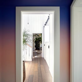 Short Hills Residence, Colorful Hallway, Walls Painted in a Gradient