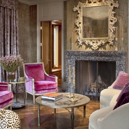 The punch of color gives a fresh and vivid take on a traditional living room.