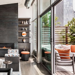 Toronto Penthouse Living Room & Terrace