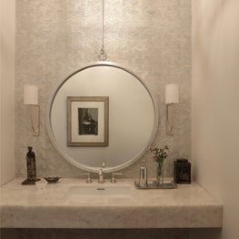 Powder Room with detail to tiling