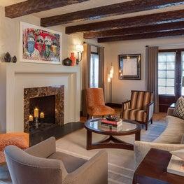 Tudor Revival Living Room