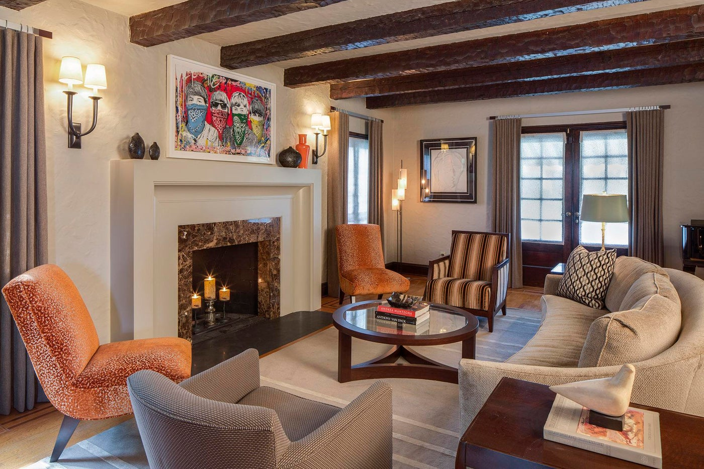 Tudor Revival Living Room