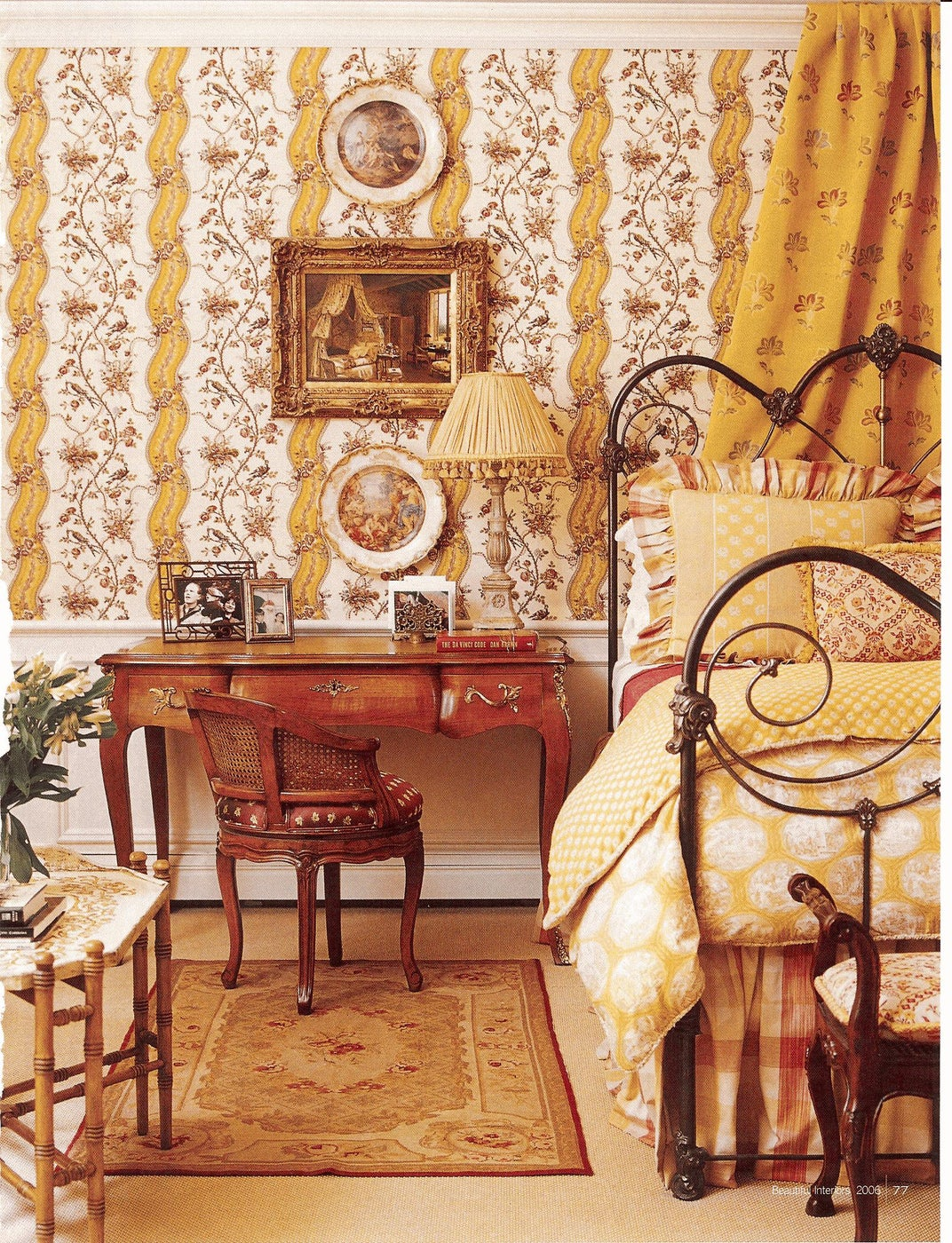 Sunny and Traditional Master Bedroom