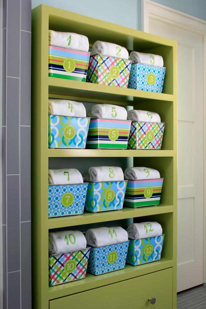 Lake Michigan Dorm Baskets, Numered Baskets, Monogramed Towels, Organized!