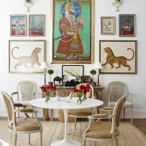 Dining Area in A New York Apartment