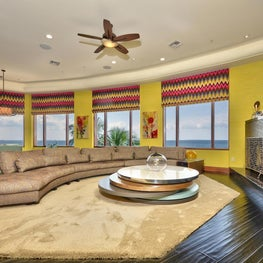 Tampa water front living area design