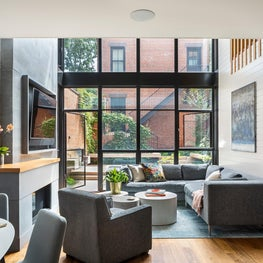 Cobble Hill Row House and Carriage House Living Room