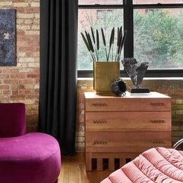 Chicago timber loft, living room