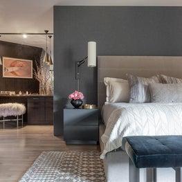"Master Bedroom + Vanity, ""Modern in the Redwoods"" Mill Valley, California"