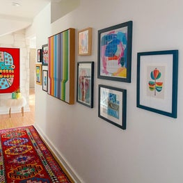 Hallway with gallery wall