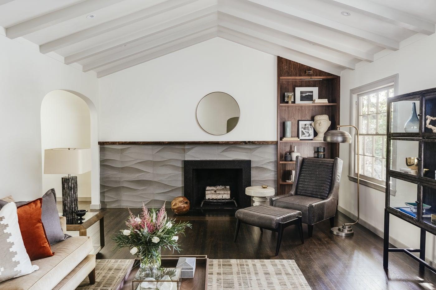 Living Room, Contemporary Tudor Project
