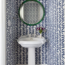 Small space, big wow powder room