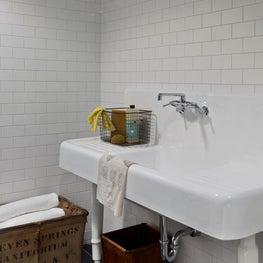 East Hampton Laundry Room - Vintage Sink