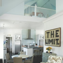Open Concept Kitchen with Studio Loft at Luxe Barn, Falmouth
