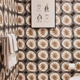 West Los Angeles Residence, Powder Room Wallpaper