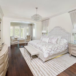 Lush Contemporary Poolside Luxury Master Bedroom