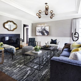 Sumptuous in the Suburbs | Living Room