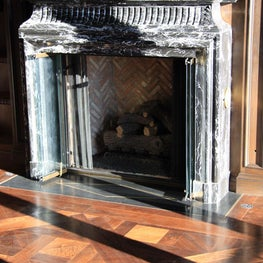 Carbon Library Fireplace | Malibu