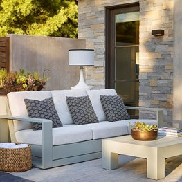Outdoor Living Room, modern home in Atherton