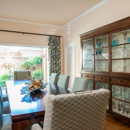 Transitional Dining Room w/Garden View