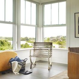 Organic Mid Century Modern Style Rhode Island Home Living Area