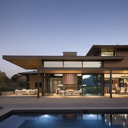 Exterior view looking into Sitting Room - Napa Valley