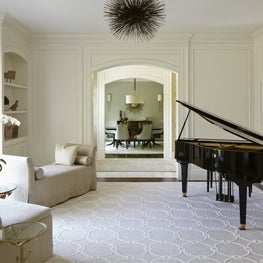 New Construction Music Room/Study, Custom Paneling, Millwork & Cabinetry