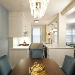 Modern Glam Dining/Open Kitchen with Custom Finishes