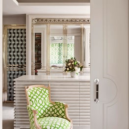Textured dressing room with clean lines
