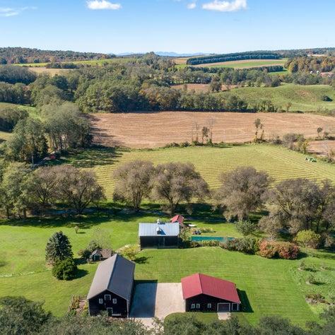 Dutchess County Farm, Aerial view