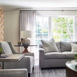 Transitional living room residence in Hillsborough.