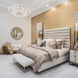 Palm Beach Tropical Paradise Glamor Master Bedroom