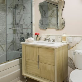Park Slope Brownstone, bath with custom vanity