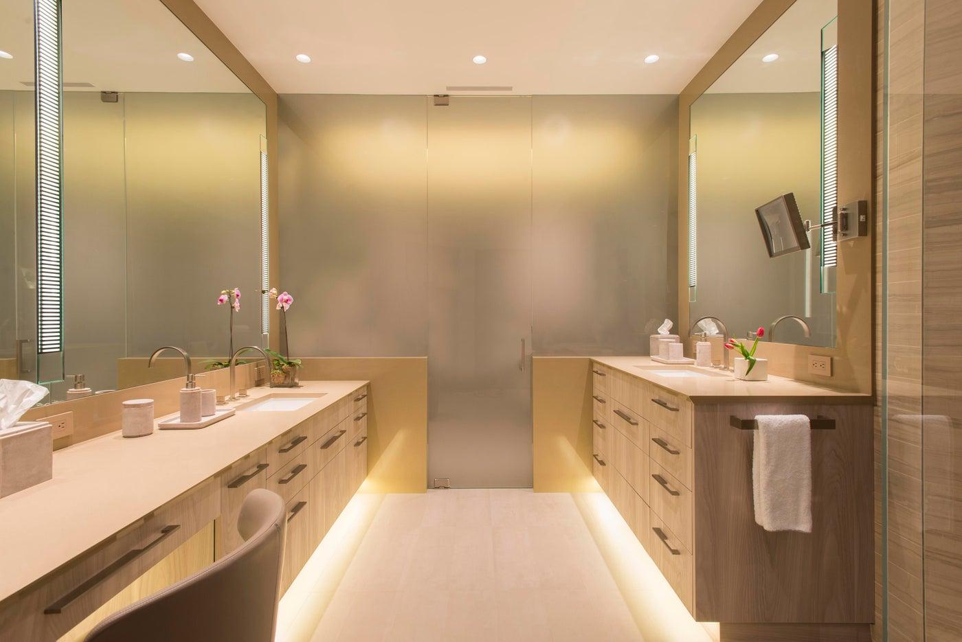 Snowmass Village, Aspen Two Creeks Remodel- Master Bathroom, Lighting details