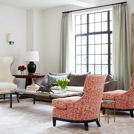 Upper West Side NYC Living Room with Fortuny Chairs