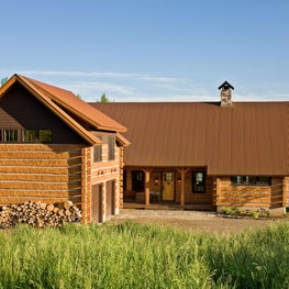 Mountain West Retreat: Motor Court and Front Entry