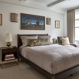 Chic and sophisticated Master Bedroom with whimsical art