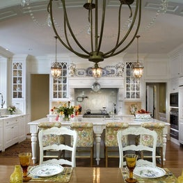 Traditional Custom Kitchen and Breakfast Room by Diane Burgoyne Interiors