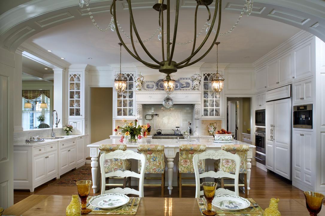 Traditional Custom Kitchen and Breakfast Room by Diane Burgoyne Interiors