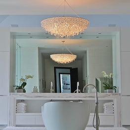 WHITE ON WHITE  IN THE MASTER BATHROOM OF OUR OLD FORT BAY PROJECT
