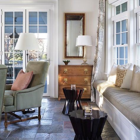 Captivating casual elegance,modern natural, murano glass,eglomise mirro