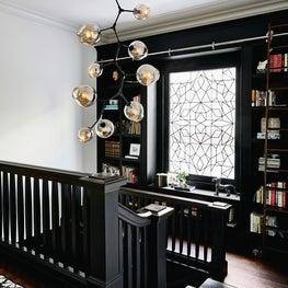 Scott Street Residence, Stairway Landing, book nook