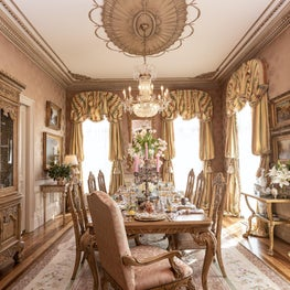 Formal Dining Room in French-styled Chateau