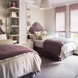 A bedroom design that takes a young girl into your late teens.