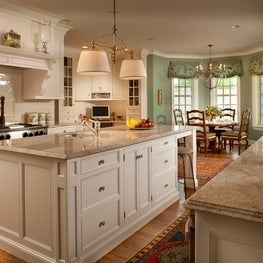 Custom Built Kitchen with Home Office by Diane Burgoyne Interiors